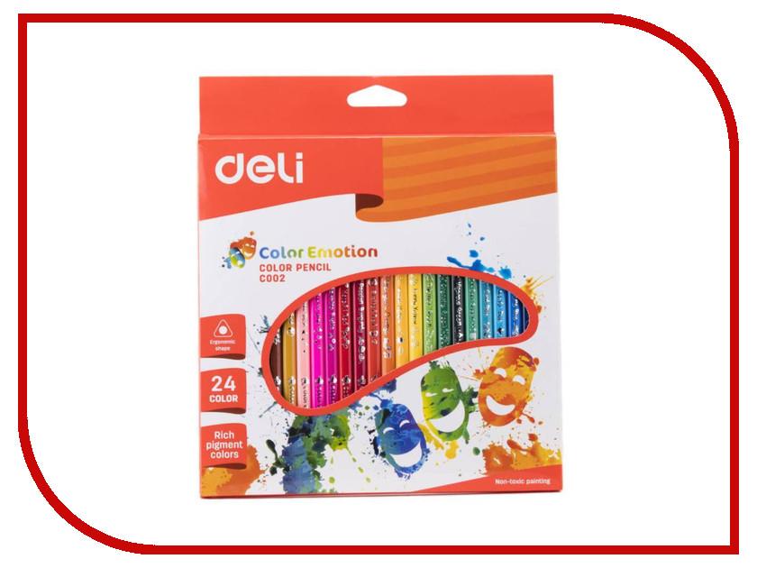 Карандаши цветные Deli Color Emotion 24 цвета EC00220 карандаши color emotion 18 цветов трехгранные ec00210
