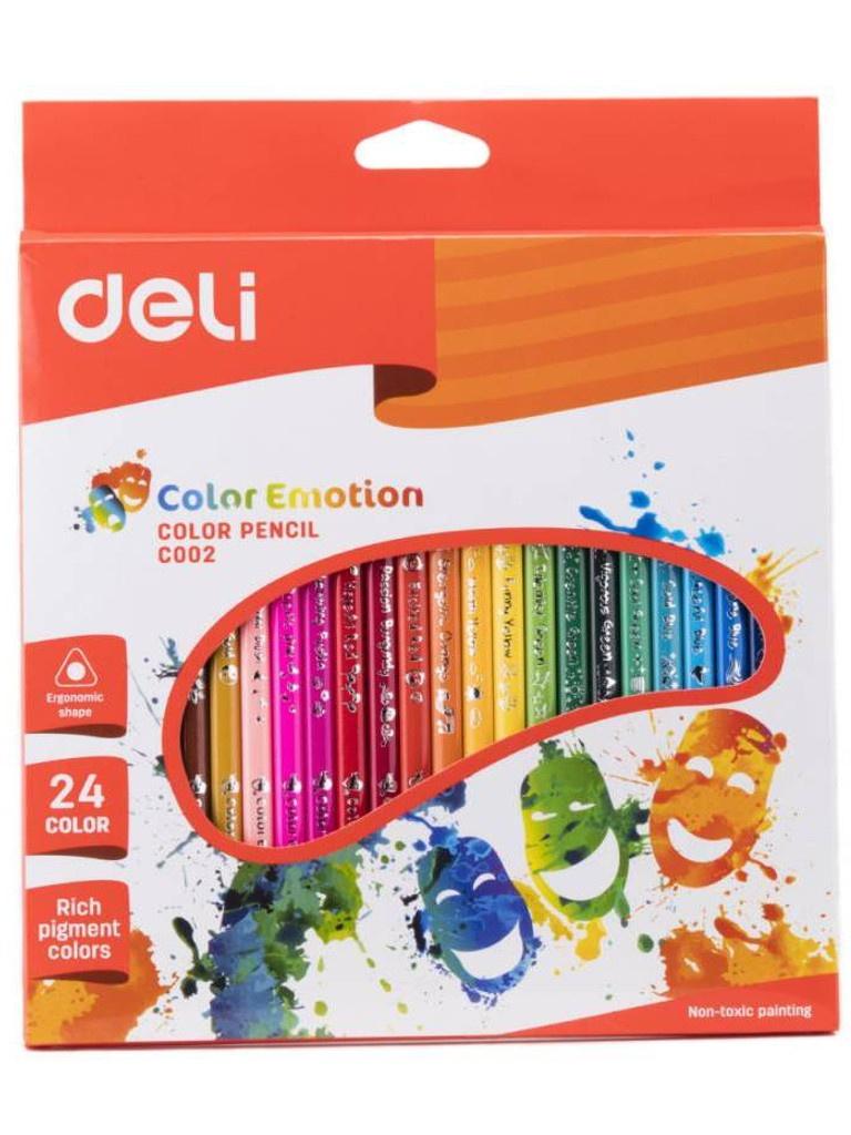 Карандаши цветные Deli Color Emotion 24 цвета EC00220