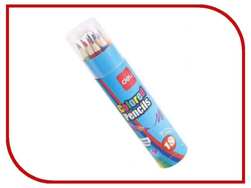 Карандаши цветные Deli 18 цветов E7013 centrum карандаши цветные monster high