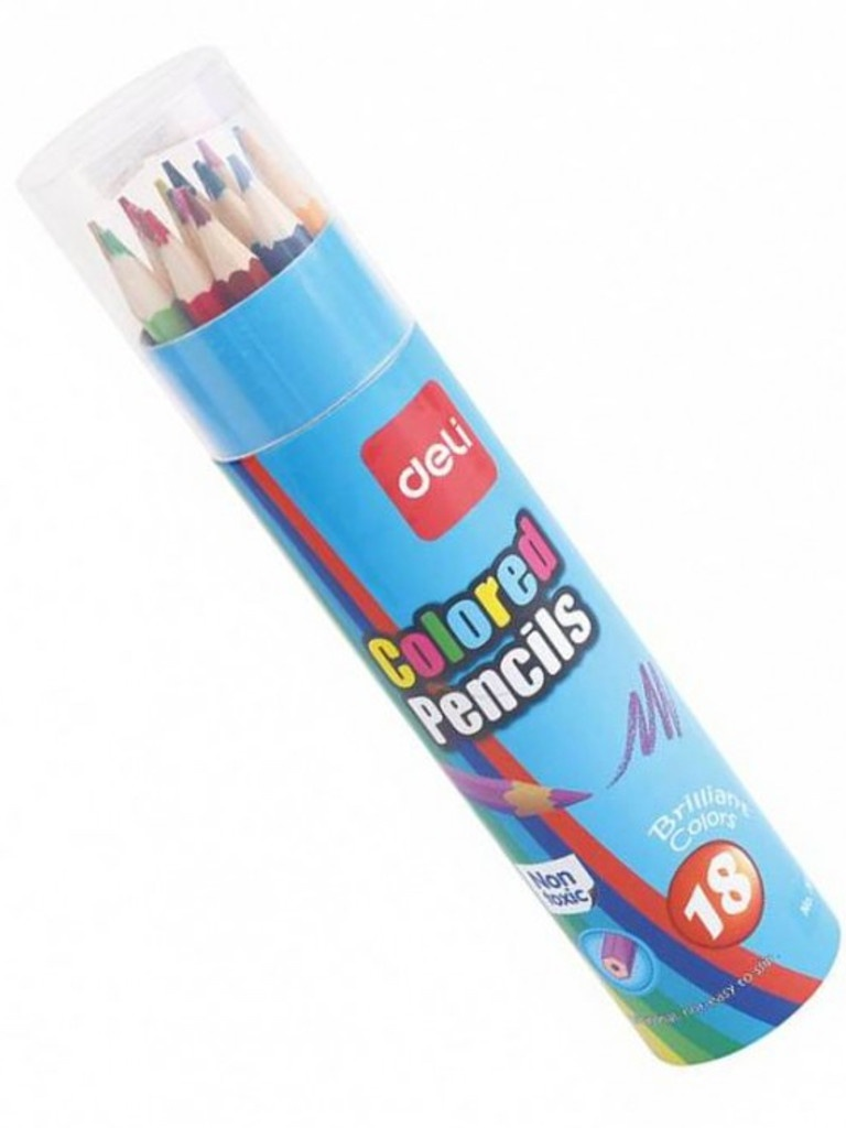 Карандаши цветные Deli 18 цветов E7013 mattel карандаши цветные enchantimals 18 цветов