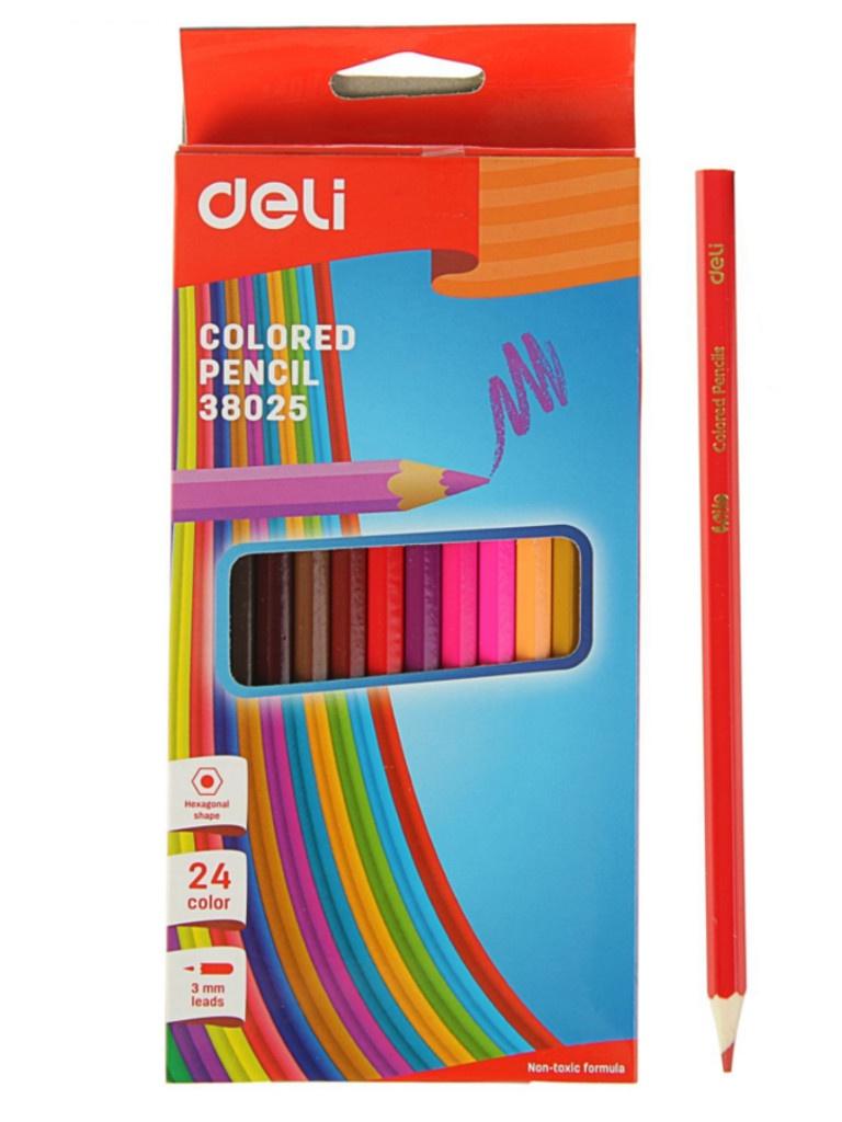 Карандаши цветные Deli 24 цвета E38025