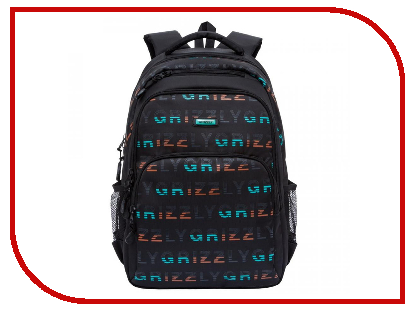 Рюкзак Grizzly RU-812-1/2 Black-Turquoise grizzly ru 623 1 3