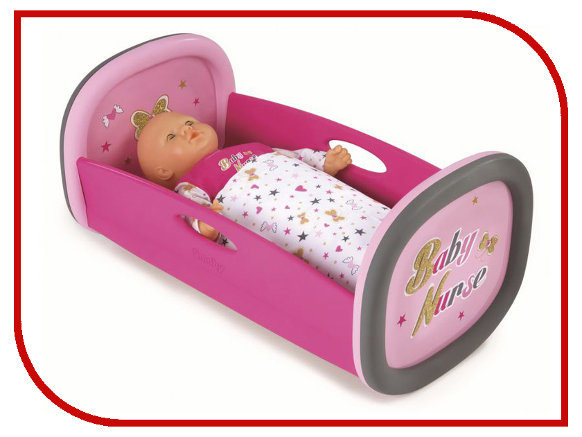 Кукла Smoby Колыбель Baby Nurse Pink 220313 smoby baby nurse