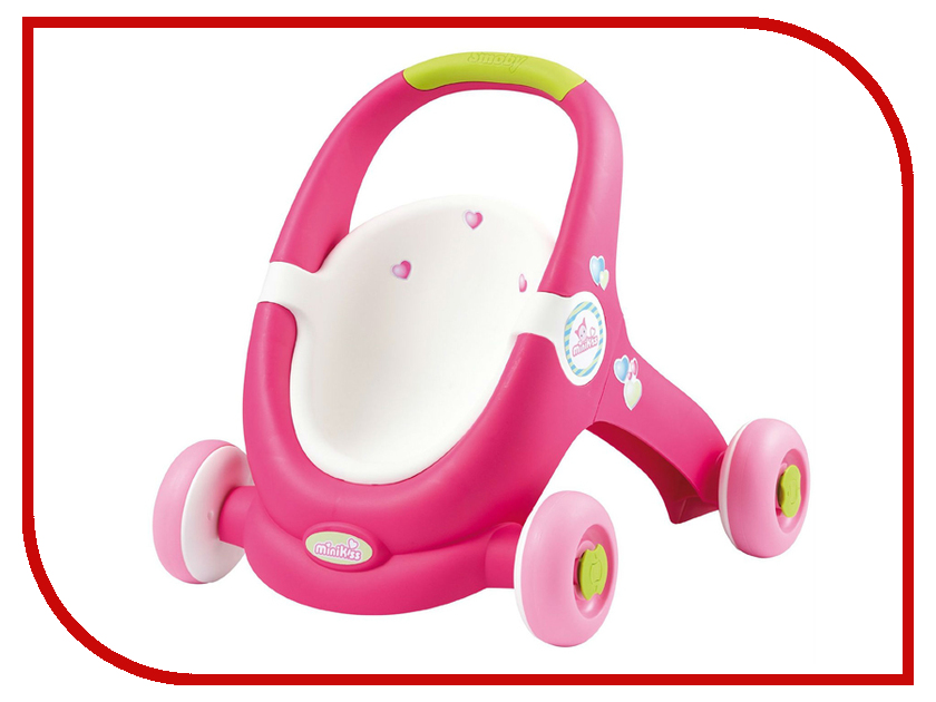 Коляска Smoby MiniKiss Ходунки-коляска 210201 коляска smoby minikiss ходунки коляска 210201