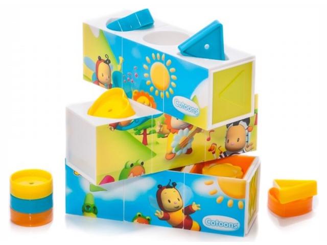 Кубики Smoby Cotoons 211385 smoby smoby cotoons набор для купания рыбалка 9 предметов