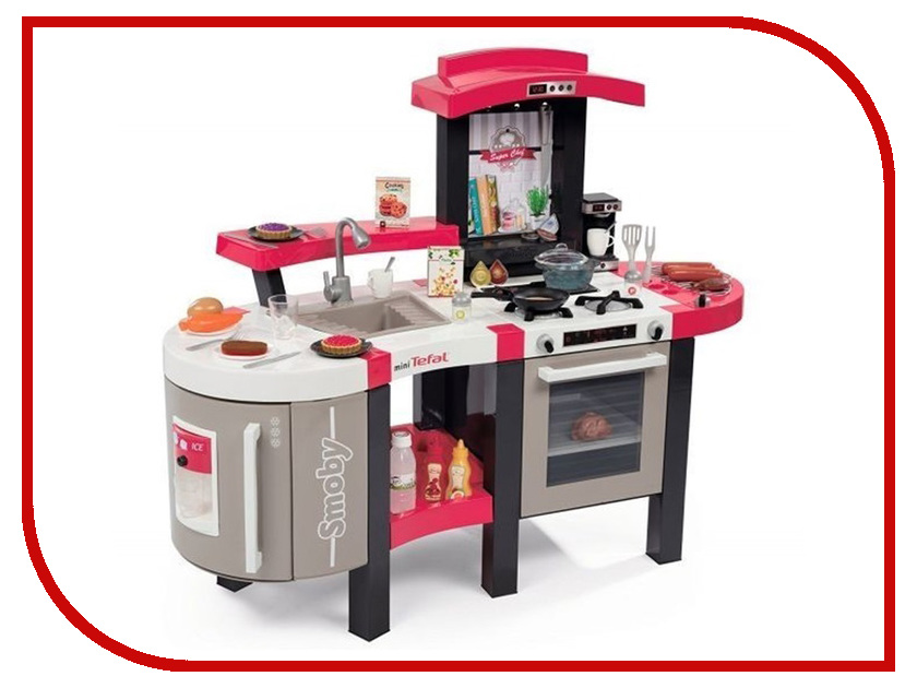 Кухня Smoby Tefal Super Chef Deluxe Gray-Pink 311304 цена