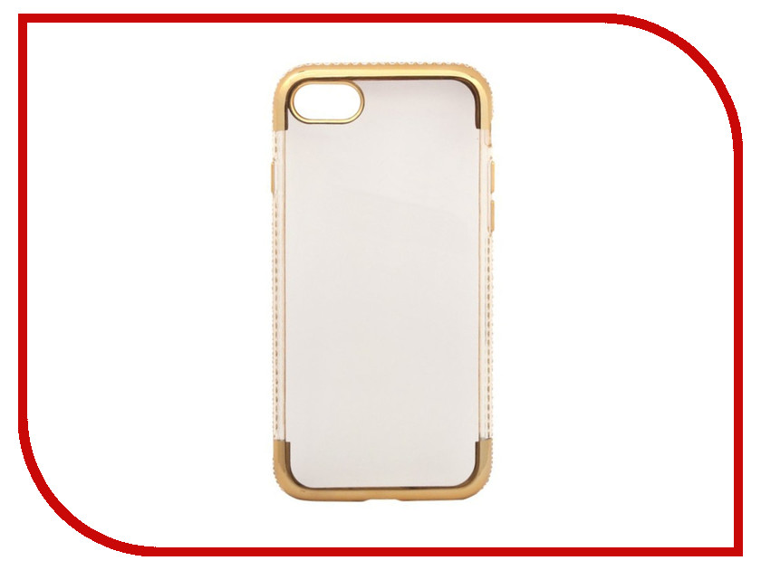 Аксессуар Чехол Liberty Project Silicone TPU для APPLE iPhone 8 / 7 Chome Gold frame 0L-00031776 dhl free shipping nillkin flex liquid silicone phone tpu back cover for iphone 8 wholesales