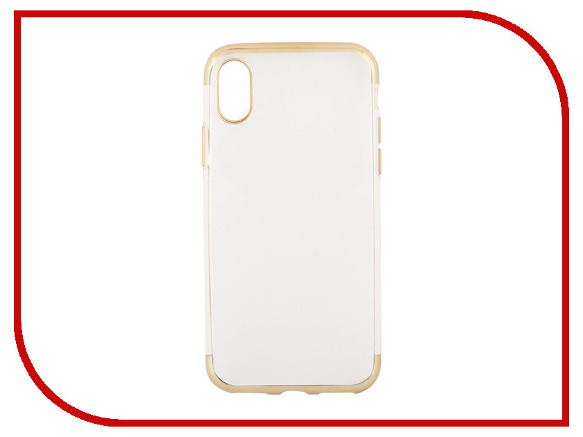 Аксессуар Чехол Liberty Project Silicone TPU для APPLE iPhone X Transparent Gold frame 0L-00038580