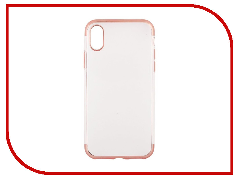 Аксессуар Чехол Liberty Project Silicone TPU для APPLE iPhone X Transparent Rose-Gold Frame 0L-00038581 ultrathin fluorescent frame protective plastic back case for iphone 5 transparent orange
