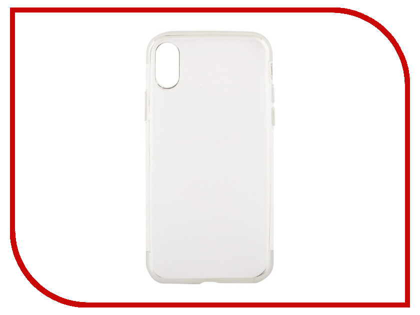 Аксессуар Чехол Liberty Project Silicone TPU для APPLE iPhone X Transparent Silver-Chrome frame 0L-00038579