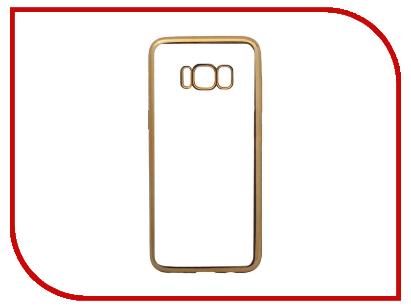 Аксессуар Чехол для Samsung Galaxy S8 Liberty Project Silicone TPU Transparent Gold-Chrome frame 0L-00032452 liberty project car charger автомобильное зу для samsung galaxy note 3