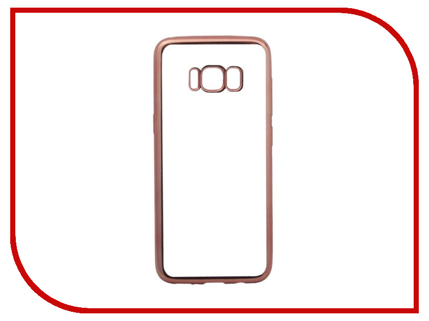 Аксессуар Чехол для Samsung Galaxy S8 Liberty Project Silicone TPU Transparent Pink-Chrome frame 0L-00032451 protective abs silicone bumper frame case for samsung i9300 galaxy s3 pink transparent