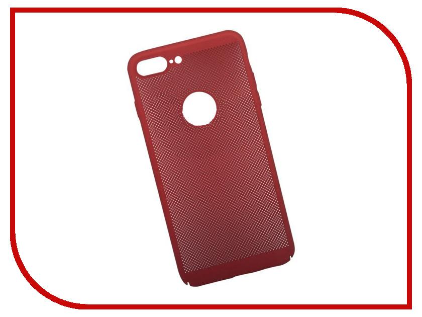 Аксессуар Защитная крышка Liberty Project Сетка Soft Touch для APPLE iPhone 8 Plus Red 0L-00035241 стоимость