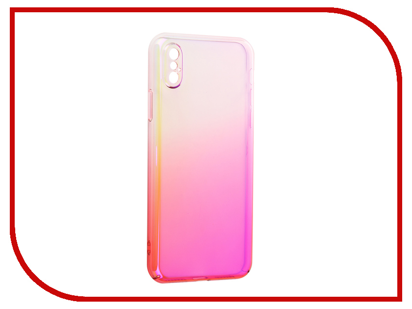 Аксессуар Защитная крышка Liberty Project Градиент для APPLE iPhone X Transparent-Pink 0L-00034195 aluminum project box splitted enclosure 25x25x80mm diy for pcb electronics enclosure new wholesale