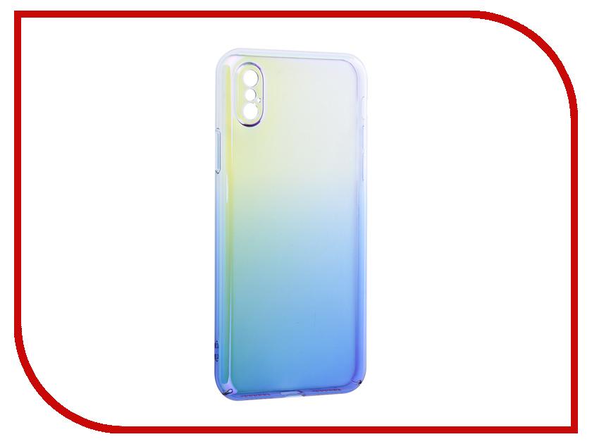 Аксессуар Защитная крышка для APPLE iPhone X Liberty Project Градиент Transparent-Blue 0L-00034193 kagerou project cosplay ene blue wig