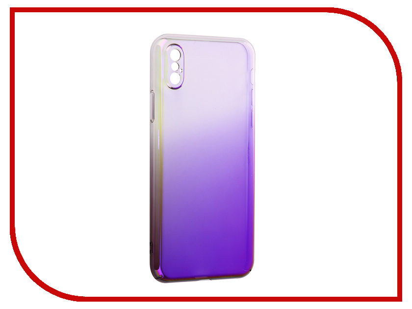 Аксессуар Защитная крышка Liberty Project Градиент для APPLE iPhone X Transparent-Purple 0L-00034194