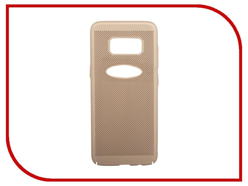 Аксессуар Защитная крышка для Samsung Galaxy S8 Liberty Project Сетка Soft Touch Gold 0L-00035142