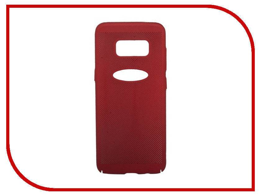 Аксессуар Защитная крышка для Samsung Galaxy S8 Liberty Project Сетка Soft Touch Red 0L-00035141
