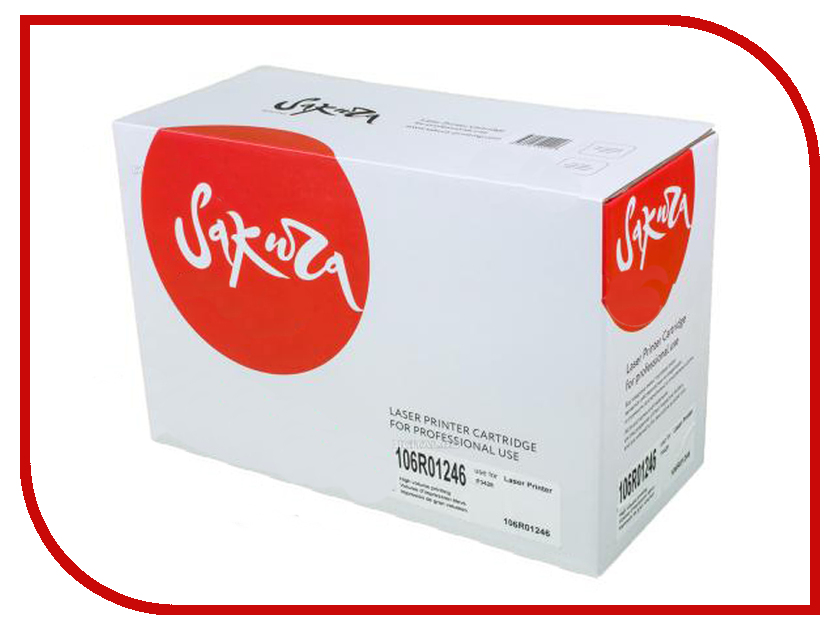 Картридж Sakura SA106R01246 Black для Xerox Phaser 3428 кеды oodji oodji oo001awlax26