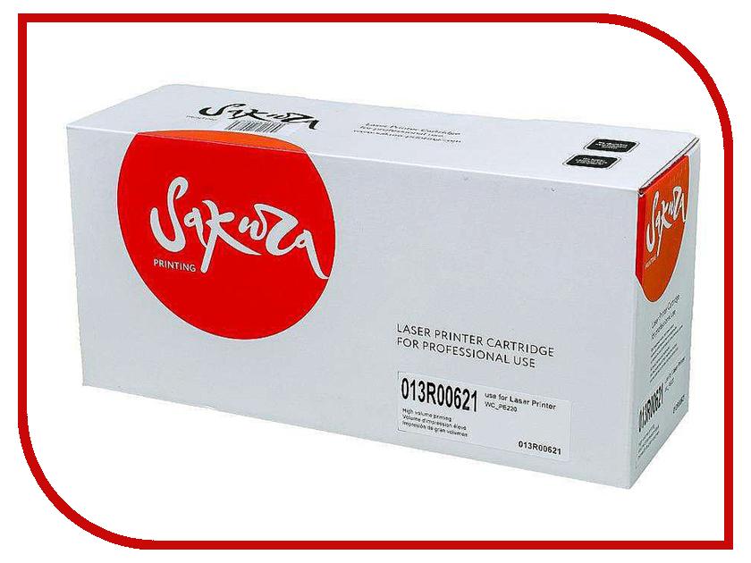 Картридж Sakura SA013R00621 Black для Xerox WorkCentre PE220 1pcs pickup roller for xerox pe220 3200 for samsung 4521f 4321 4725 copier parts