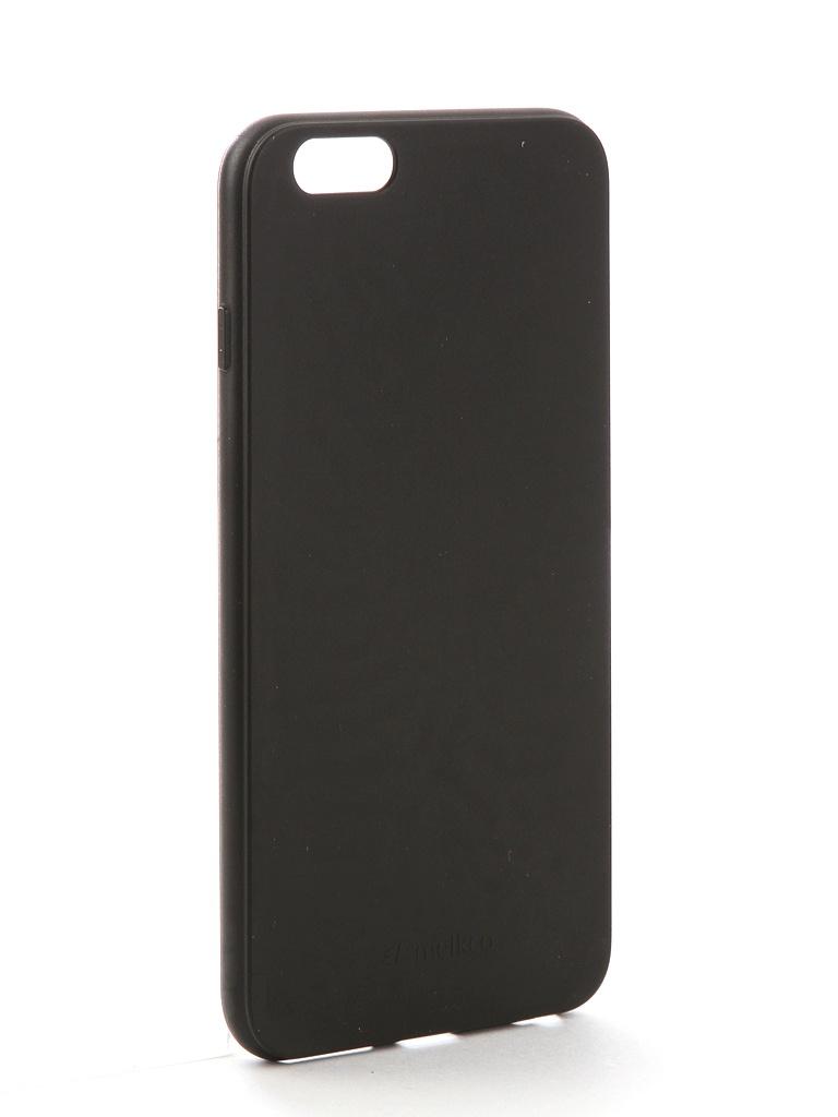 Аксессуар Чехол Melkco для APPLE iPhone 6S Plus Silicone TPU Matt Black 6654 аксессуар чехол snoogy creative silicone 0 3mm для apple iphone 5 black