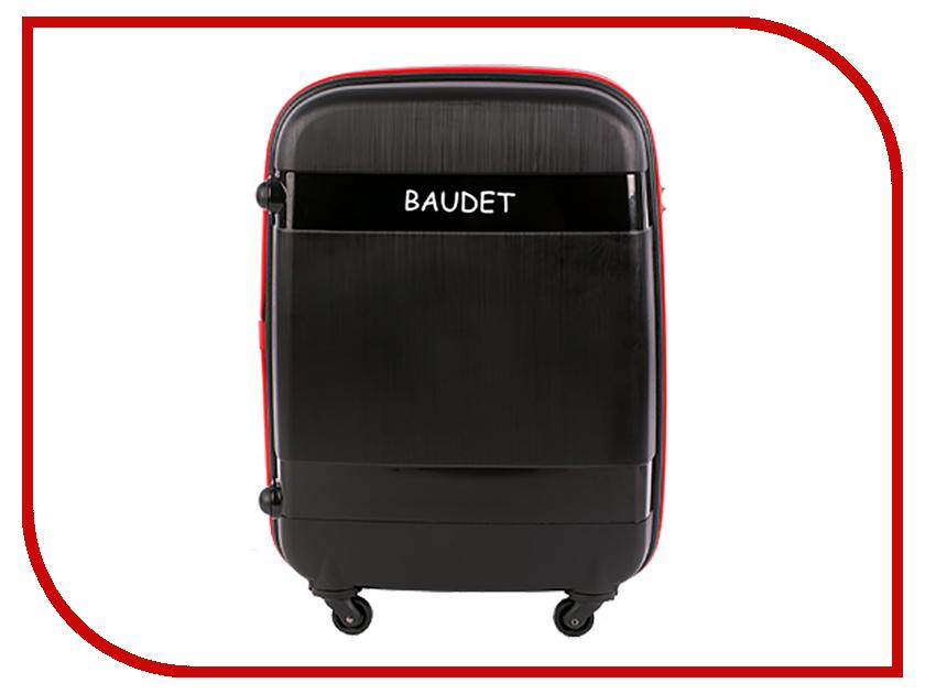 Чемодан Baudet BHL0708802 h-65cm 73.1L Black-Red