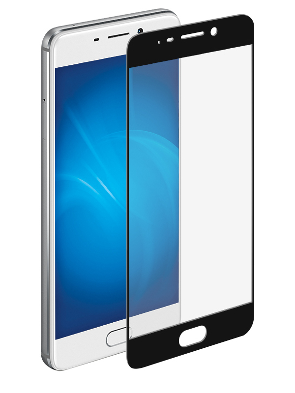 Аксессуар Защитное стекло для Meizu M6 Note Onext с рамкой Black 41527