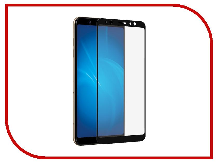 Аксессуар Защитное стекло для Samsung Galaxy A6 Plus Onext с рамкой Black 41685 защитные стекла onext защитное стекло onext для телефона samsung galaxy j7 2017 с рамкой черное