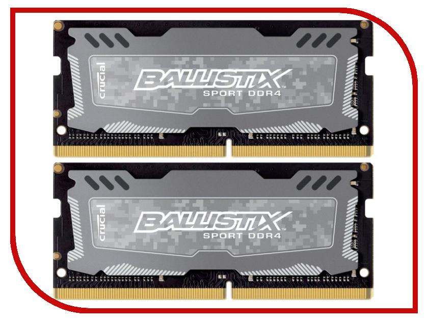 Модуль памяти Crucial Sport LT DDR4 SO-DIMM 2400MHz PC4-19200 CL9 - 32Gb (2x16Gb) BLS2C16G4S240FSD