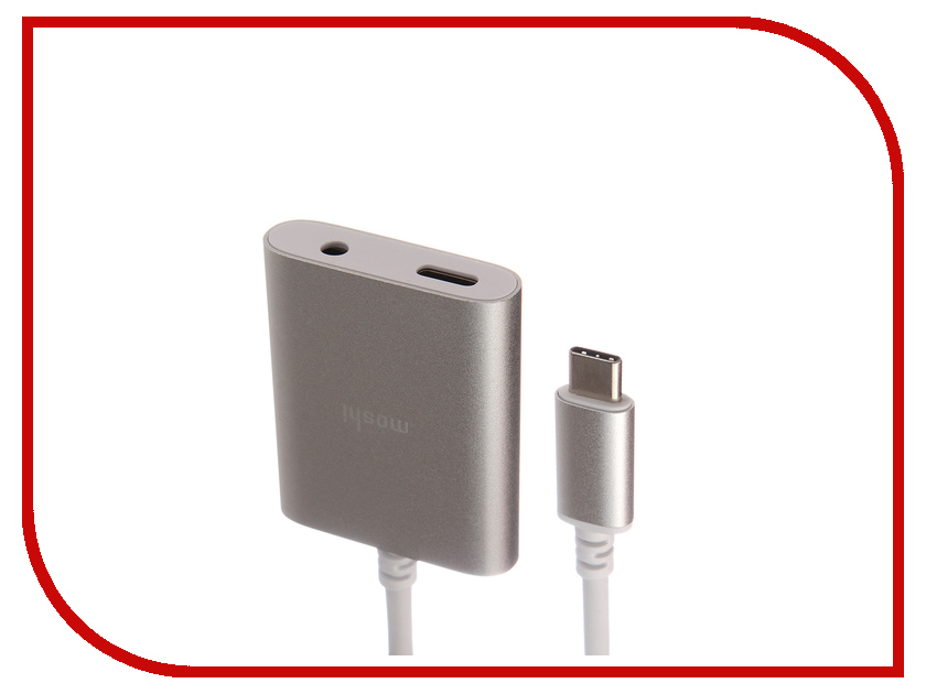 Аксессуар Moshi Integra USB-C to AUX 3.5 Silver 99MO084242 50pcs micro usb 3 0 male to usb c usb 3 1 type c female extension data cable for macbook tablet 10cm by fedex