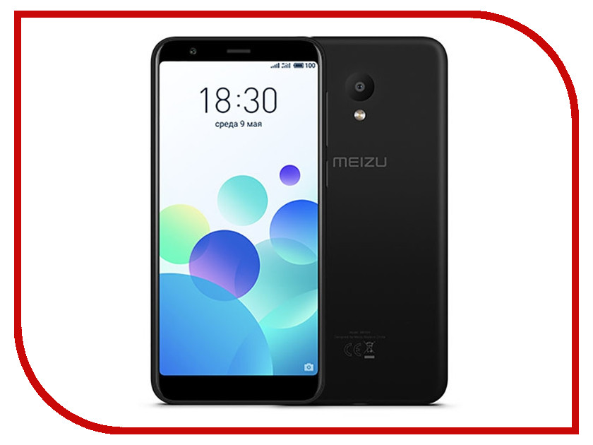 Сотовый телефон Meizu M8c 16Gb Black силиконовый ремешок для фитнес трекера xiaomi mi band 3 light green