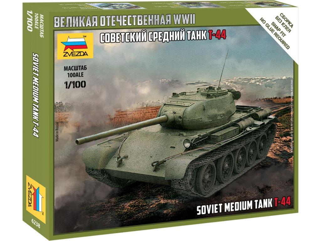 Сборная модель Zvezda Т-44 6238