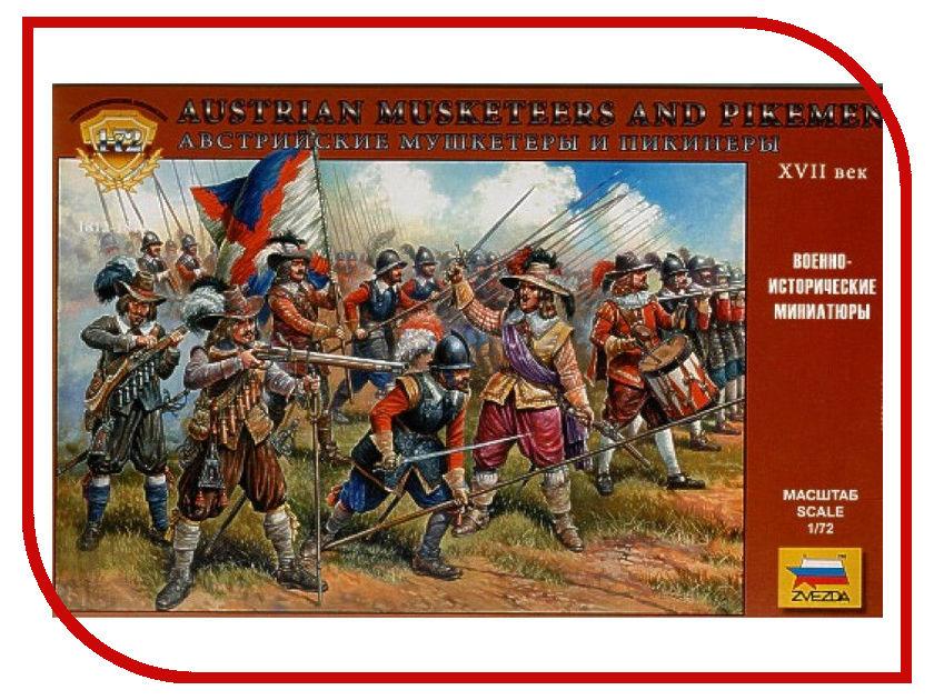 Сборная модель Zvezda Австрийские мушкетеры 8061 сборная модель zvezda средневековая крестьянская армия 8059