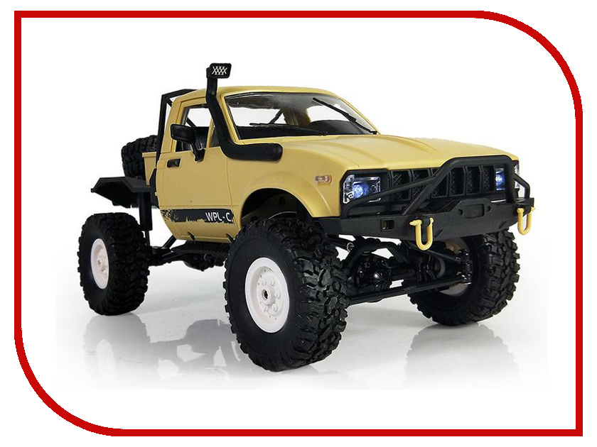 Игрушка Aosenma Offroad Desert Car 1:16 4WD Yellow WPLC-14 professional car washing sponge pad yellow