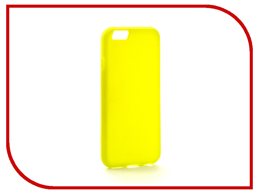 Аксессуар Чехол Melkco Silicone TPU для APPLE iPhone 6/6S Yellow 6460 аксессуар крышка задняя iridium для iphone 6 4 7 inch yellow
