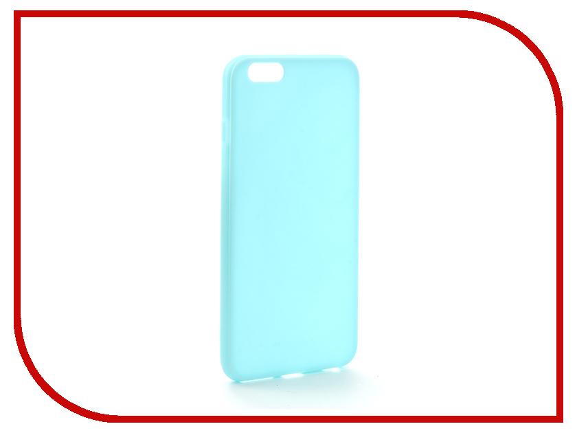 Аксессуар Чехол Melkco Silicone TPU для APPLE iPhone 6 Plus Light-Blue 6710 аксессуар защитное стекло monsterskin 5d для apple iphone 6 plus white