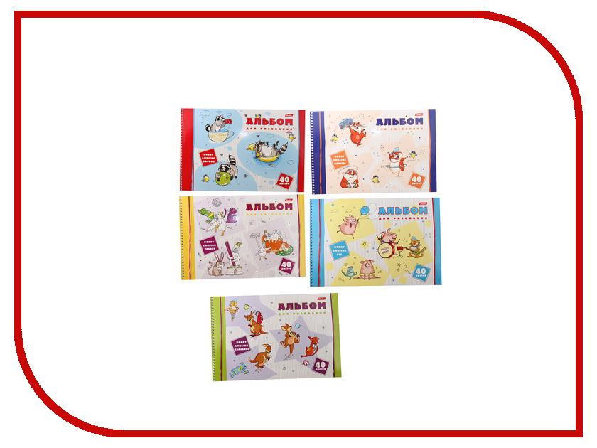Альбом для рисования Hatber Забавные хобби A4 40 листов A274200 альбом для рисования action dc comics a4 40 листов dc aa 40 1 в ассортименте