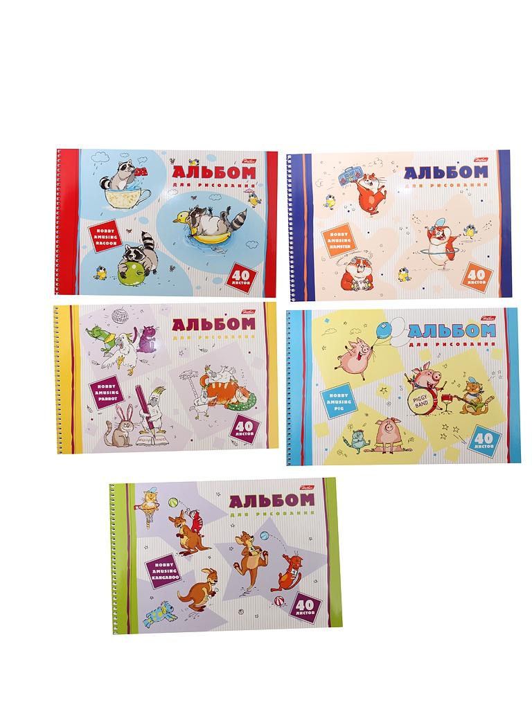 Альбом для рисования Hatber Забавные хобби A4 40 листов A274200