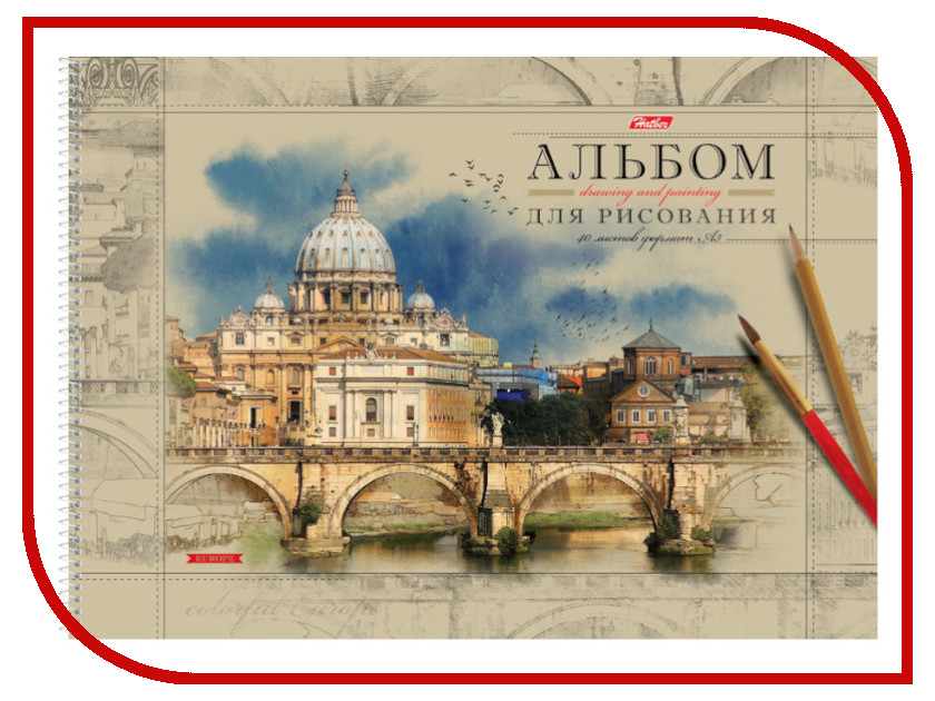 Альбом для рисования Hatber Европа А3 40листов 40А3Всп_16355 A246344