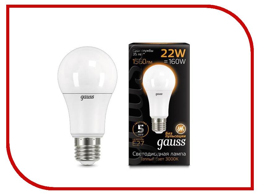 Лампочка Gauss LED E27 A70 22W 3000K 102502122 стоимость