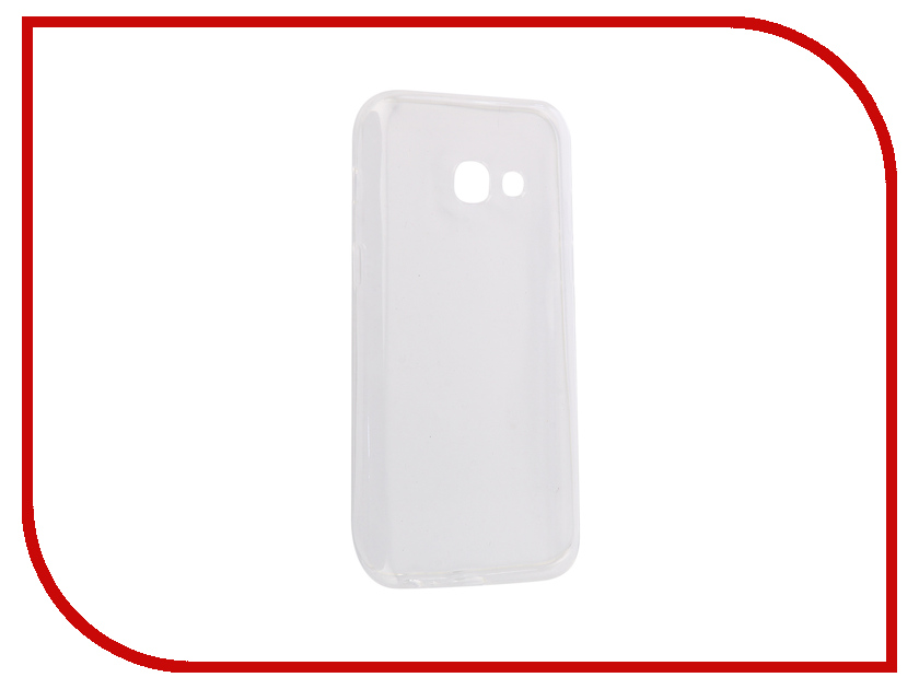 Аксессуар Чехол-накладка Samsung Galaxy A3 2017 Innovation Silicone 0.3mm Transparent 12026 аксессуар чехол для samsung galaxy a5 2017 innovation silicone coral 10646