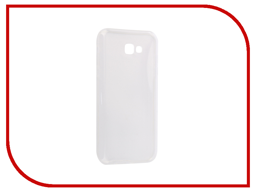 Аксессуар Чехол-накладка Samsung Galaxy A7 2016 Innovation Silicone 0.3mm Transparent 12029 аксессуар чехол samsung galaxy a7 2017 with love moscow silicone lips 5080