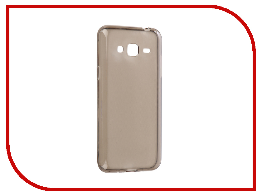 Аксессуар Чехол-накладка для Samsung Galaxy J3 2016 Innovation Silicone 0.3mm Transparent-Black 12034 аксессуар чехол для samsung galaxy j3 2016 onext silicone transparent 70508