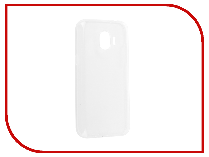 Аксессуар Чехол-накладка для Samsung Galaxy J2 2018 SM-J250F Innovation Silicone 0.33mm Transparent 12042 аксессуар чехол для samsung galaxy j2 2018 innovation book gold 11961
