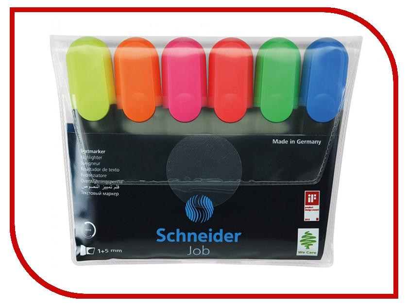 Маркер Schneider Job 1-5mm набор 6 цветов 115096 4pcs lot germany schneider gel pen signing pen topball 861 black 0 5mm student office stationery writing smoothly exam notes