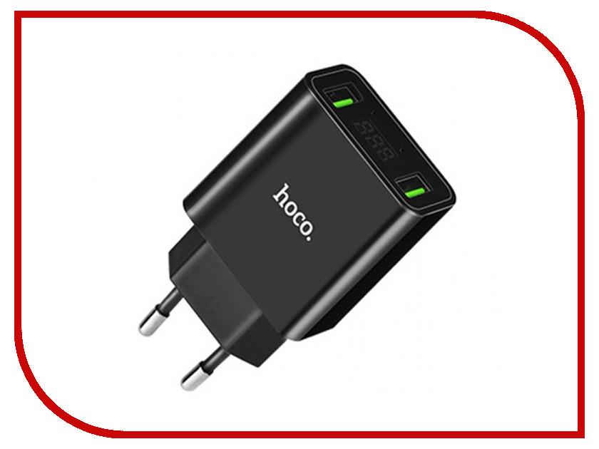 Зарядное устройство HOCO C25A Cool LED 2xUSB 4.4A Black sunwayman f30r 500lm 11 mode cool white led powerful flashlight black 3 x 16340