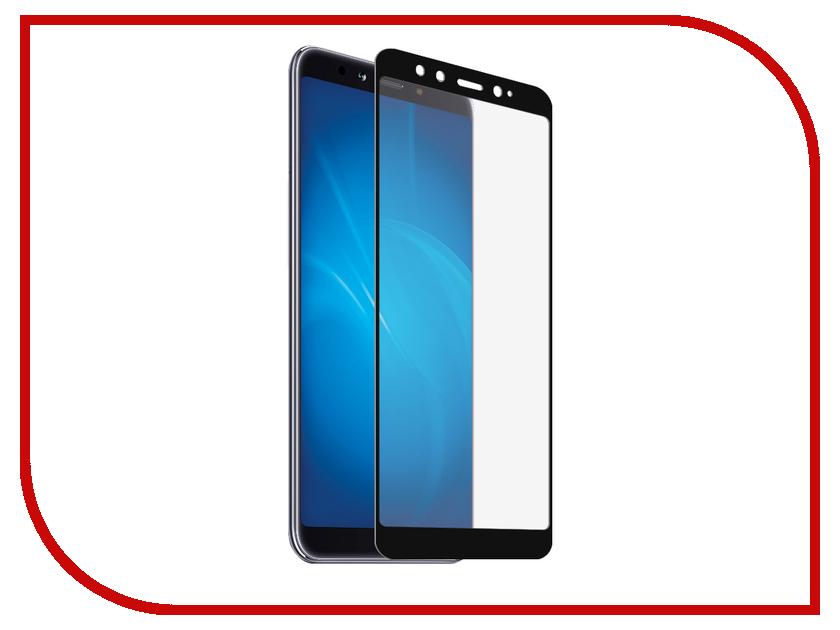 Аксессуар Защитное стекло для Xiaomi Mi A2 / Mi6X Red Line Full Screen Tempered Glass Black УТ000015660 for lenovo zuk z2 lcd screen display with touch screen digitizer panel glass assembly black white replacement parts free shipping