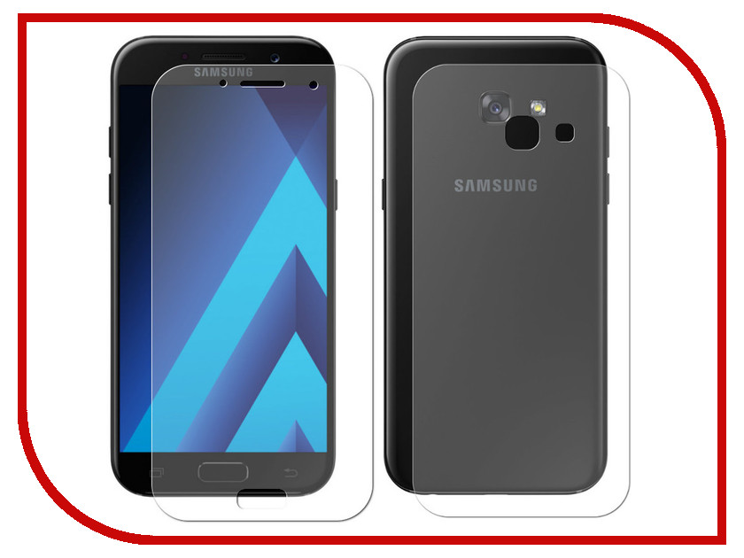 Аксессуар Защитное стекло для Samsung Galaxy A5 2017 5.2 Red Line Tempered Glass Front&Back УТ000011025 london pattern protective plastic back case w front screen protector for iphone 5 grey red