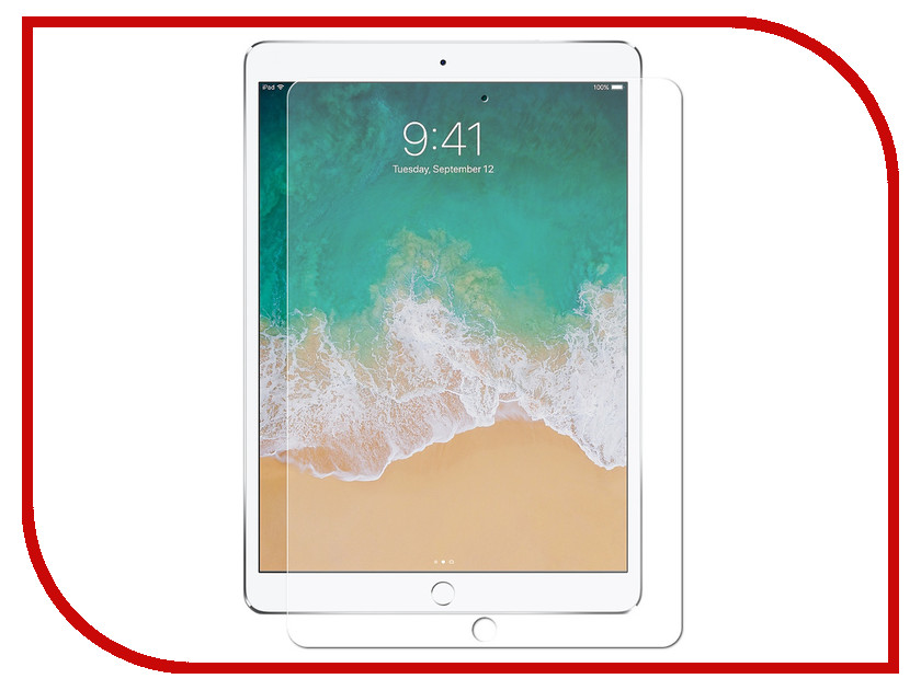 Аксессуар Защитное стекло Red Line для APPLE iPad Pro 10.5 Tempered Glass glasto durable organic tempered glass screen guard film for iphone 5 transparent