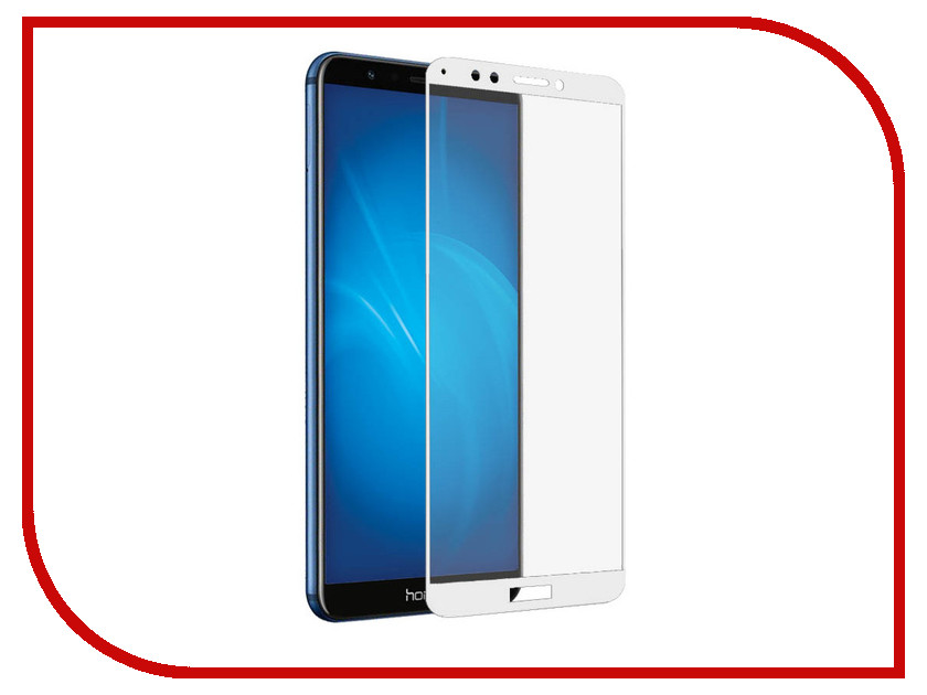 Аксессуар Защитное стекло для Huawei Honor 7C Red Line Full Screen 3D Tempered Glass White УТ000015310 аксессуар защитное стекло для huawei honor y9 2018 luxcase 3d full screen black frame 77921